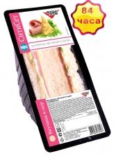 Бутерброд с ветчиной и сыром на белом хлебе 155 г