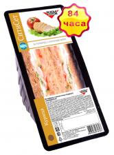 Бутерброд с куриным филе на темном хлебе 155 г
